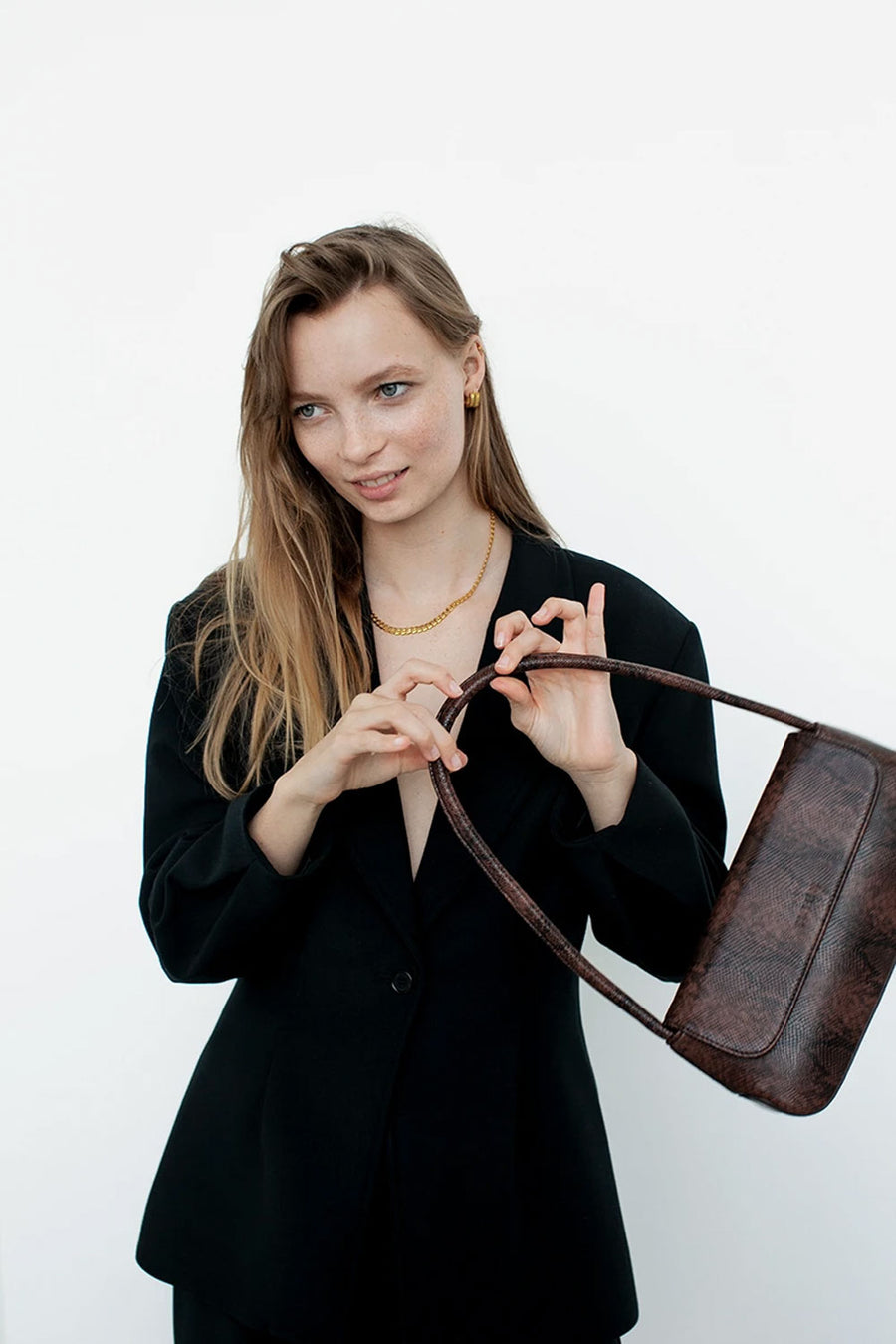 The Camille | Dark Brown Snake | Bags NZ | BRIE LEON NZ | Black Box Boutique Auckland | Womens Fashion NZ