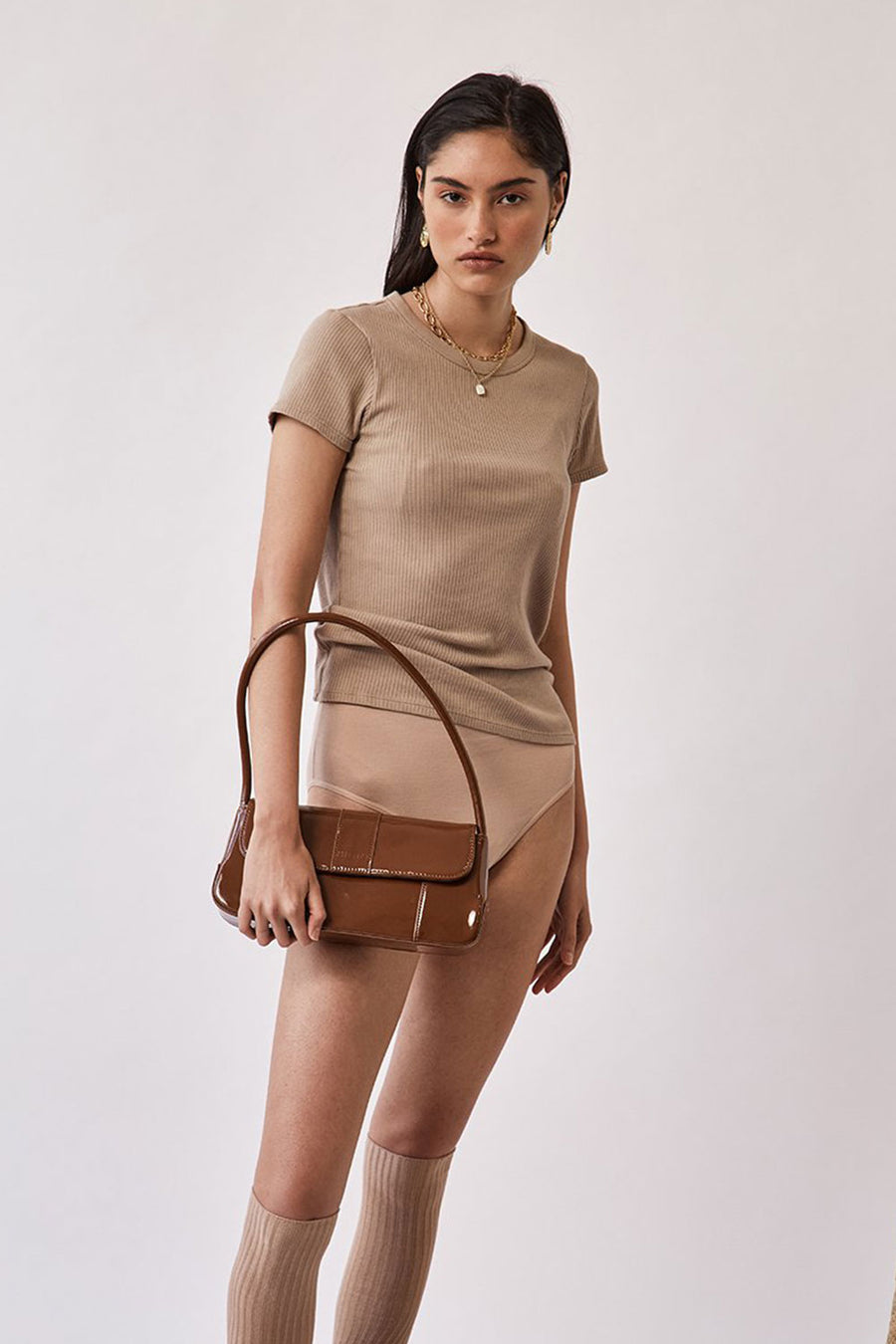 The Camille | Muted Brown Patent | Bags NZ | BRIE LEON NZ | Black Box Boutique Auckland | Womens Fashion NZ