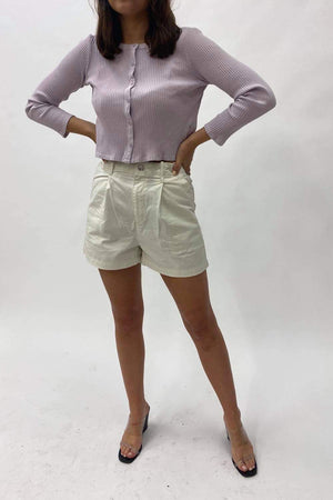 Pleated Utility Shorts | Crisp Tofu | LEVI'S NZ | Bottoms NZ | Black Box Boutique Auckland | Womens Fashion NZ