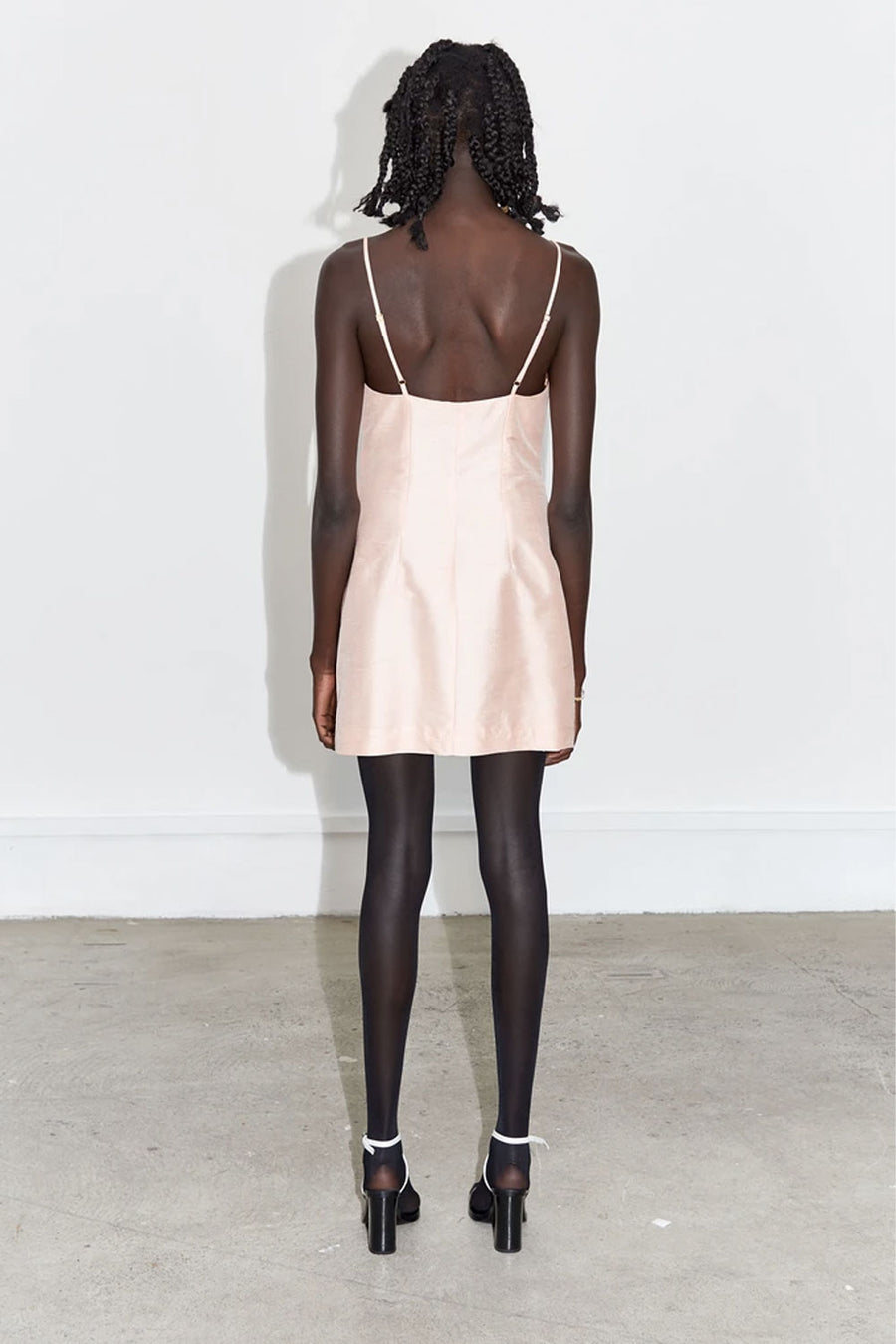 Moon Mini Dress | Blush Silk | Dresses NZ | WYNN HAMLYN NZ | Black Box Boutique Auckland | Womens Fashion NZ