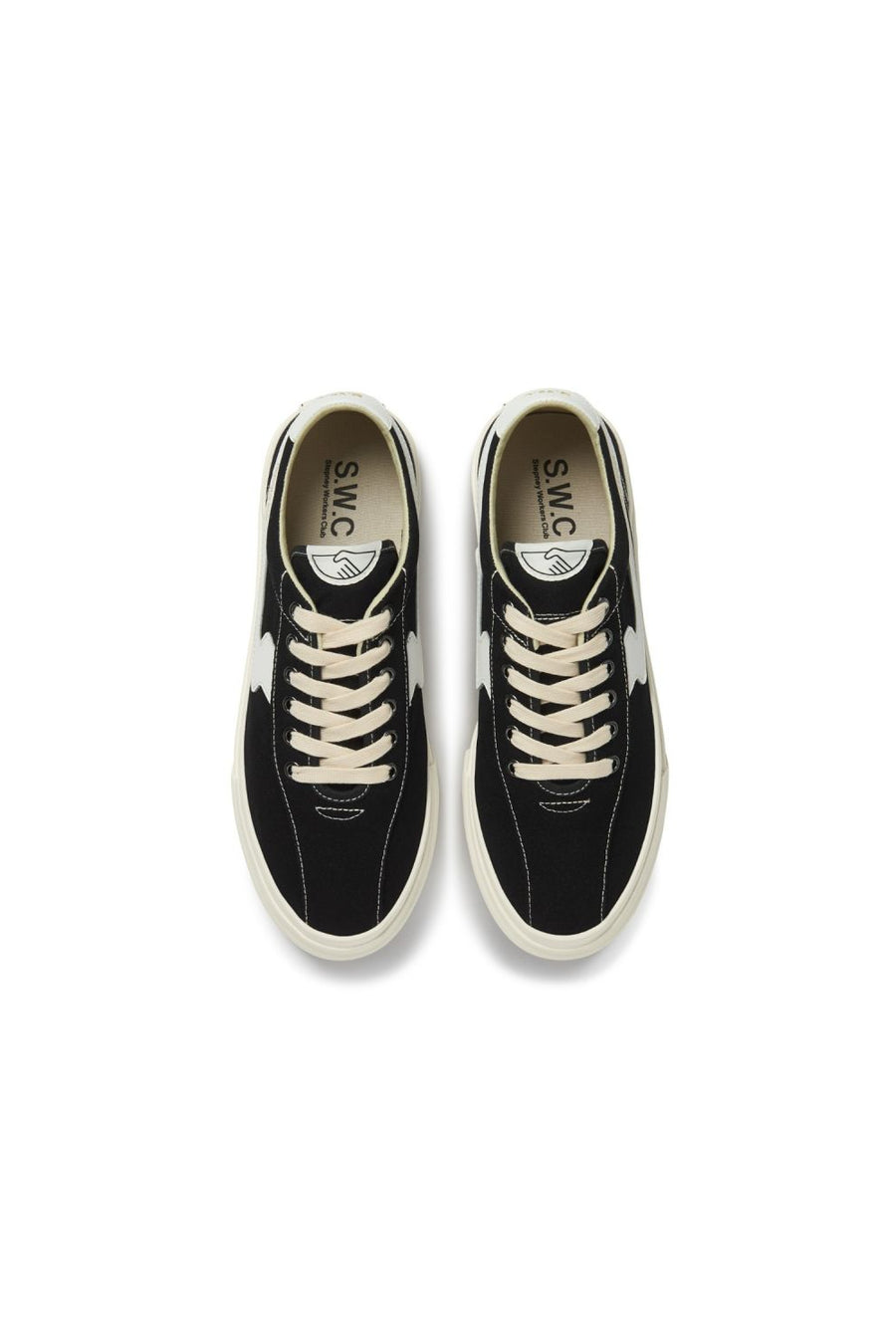 Dellow S Strike Canvas | Black & White | STEPNEY WORKERS CLUB NZ | footwear NZ | Black Box Boutique Auckland | Womens Fashion NZ