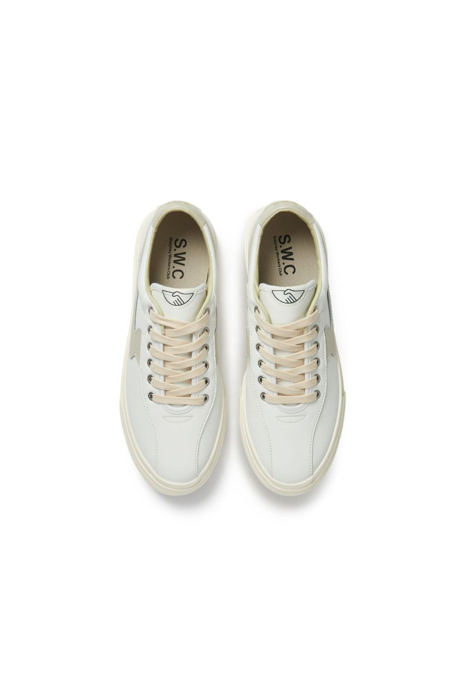 Dellow S Strike Leather | White & Putty