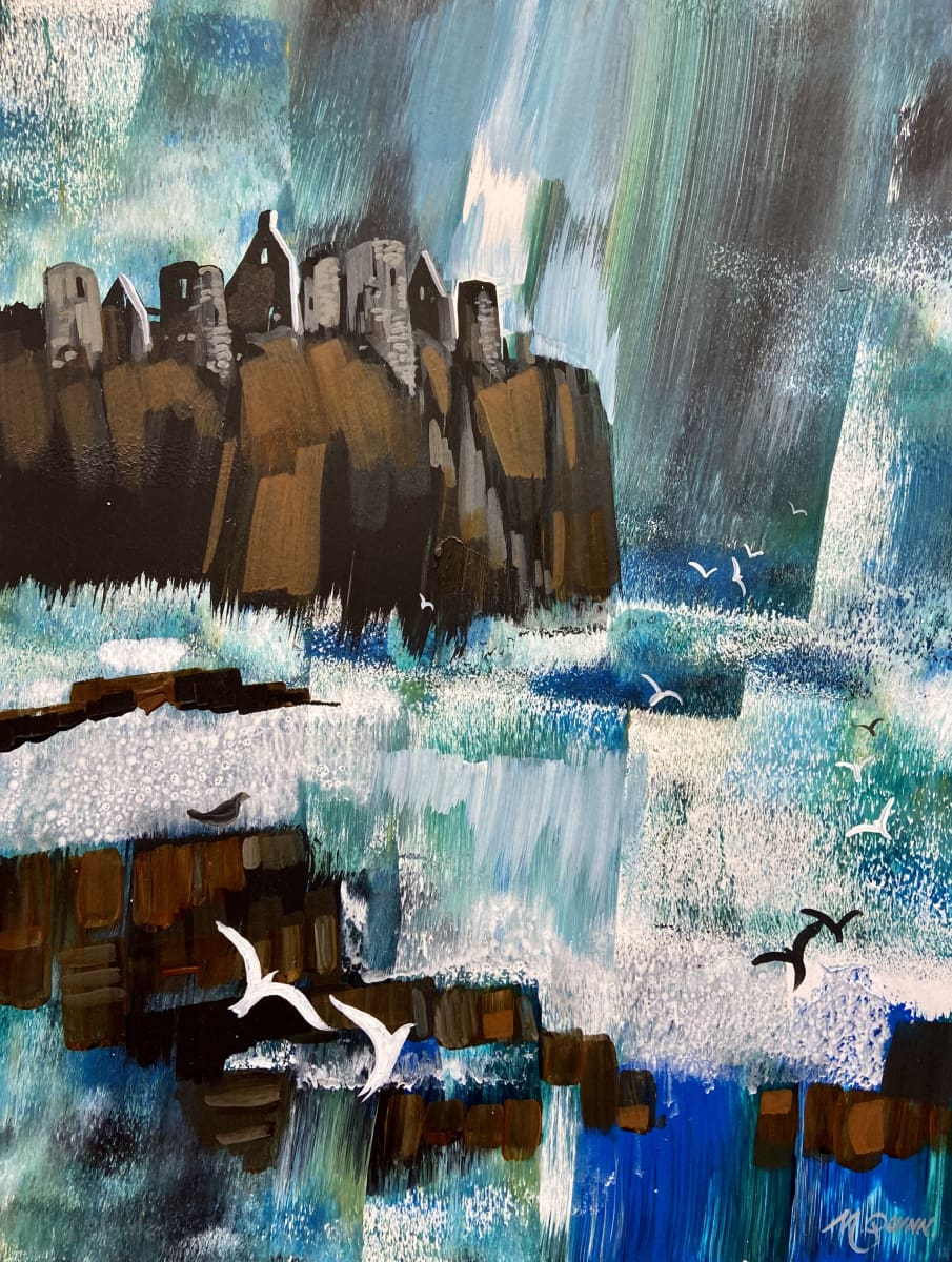 A Crisp Day Dunluce Castle Co.antrim Original Artwork