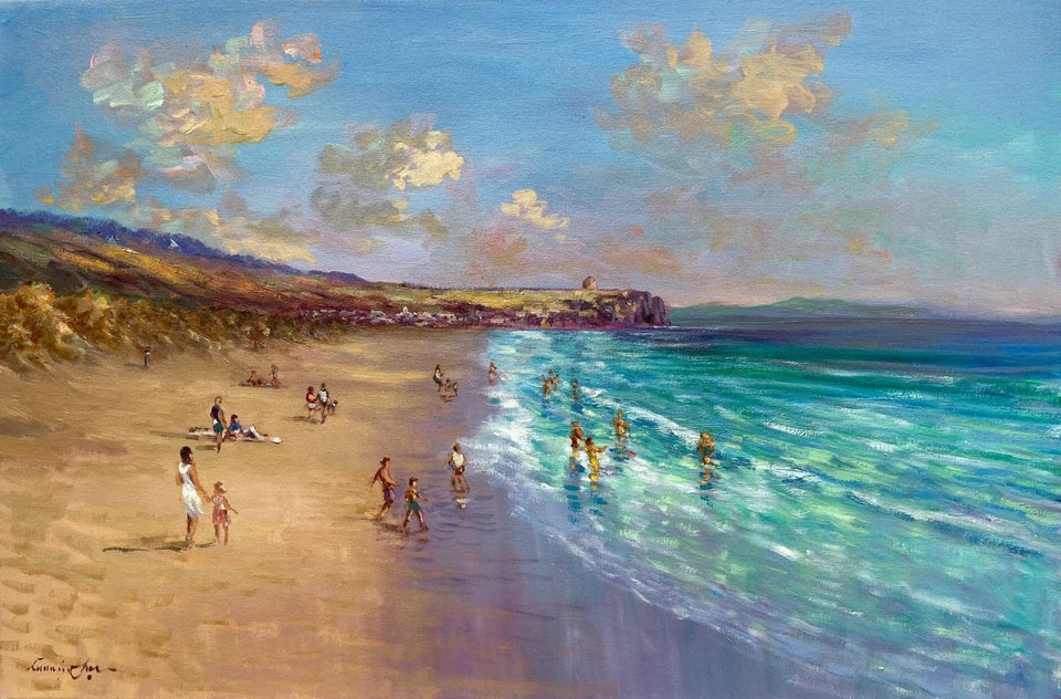A Fine Summers Day On Portstewart Strand Original Artwork