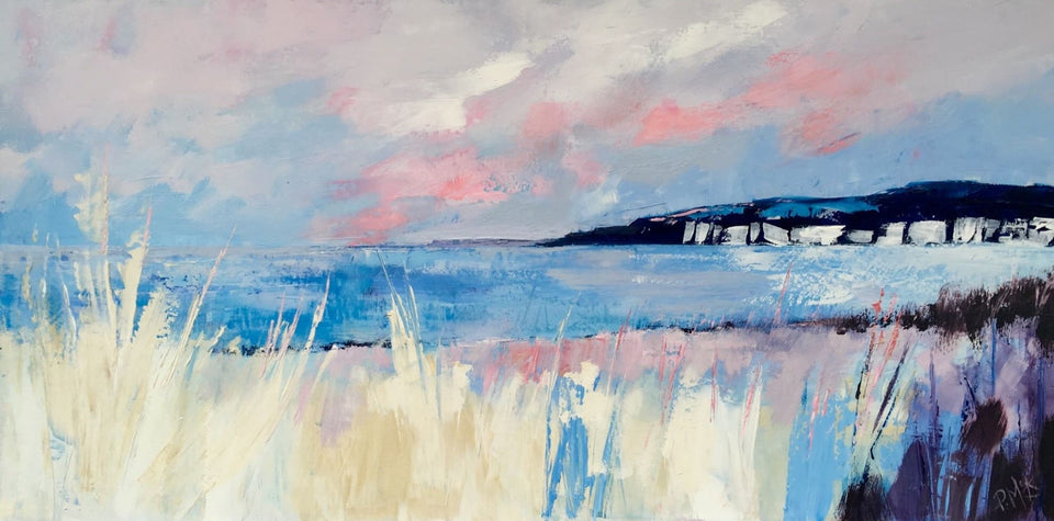 A Fine Summers Evening White Rocks Portrush Co.antrim Original Artwork
