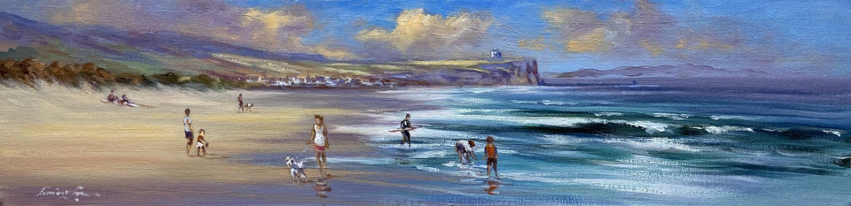 A Summers Day Portstewart Strand Original Artwork