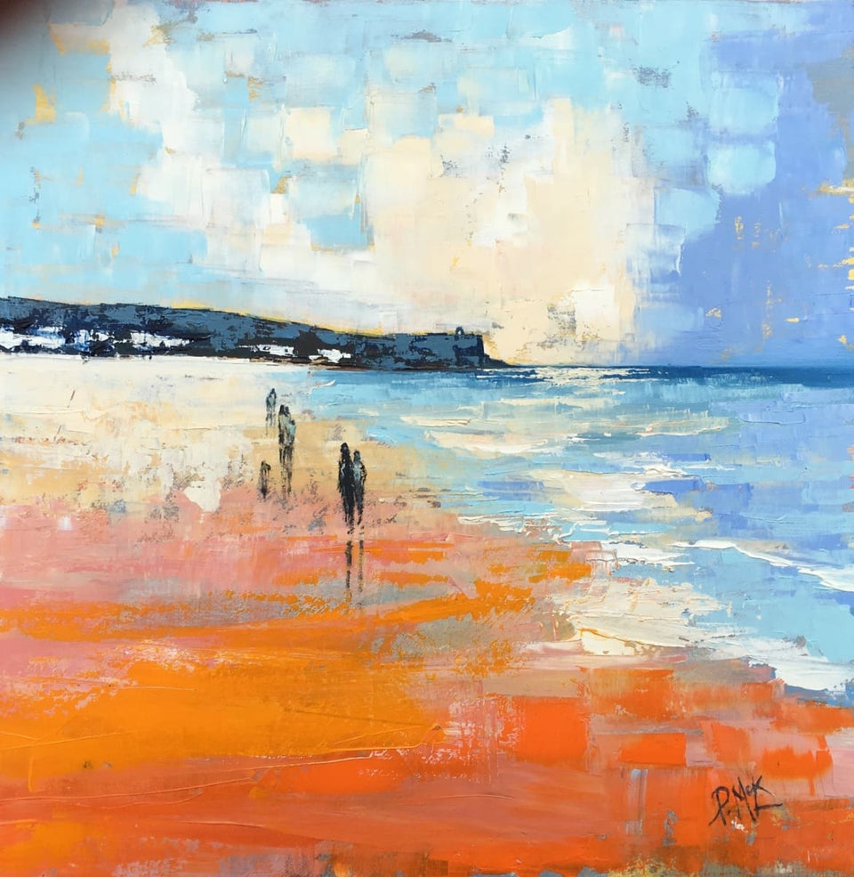 A Warm Summers Evening Portstewart Original Artwork