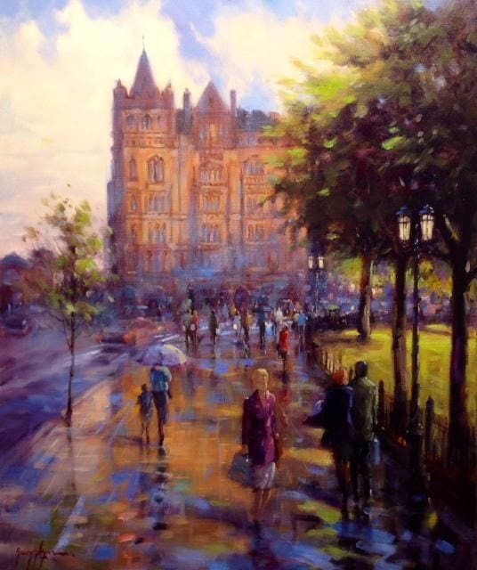 Afternoon Light Donegal Square Belfast Original Artwork