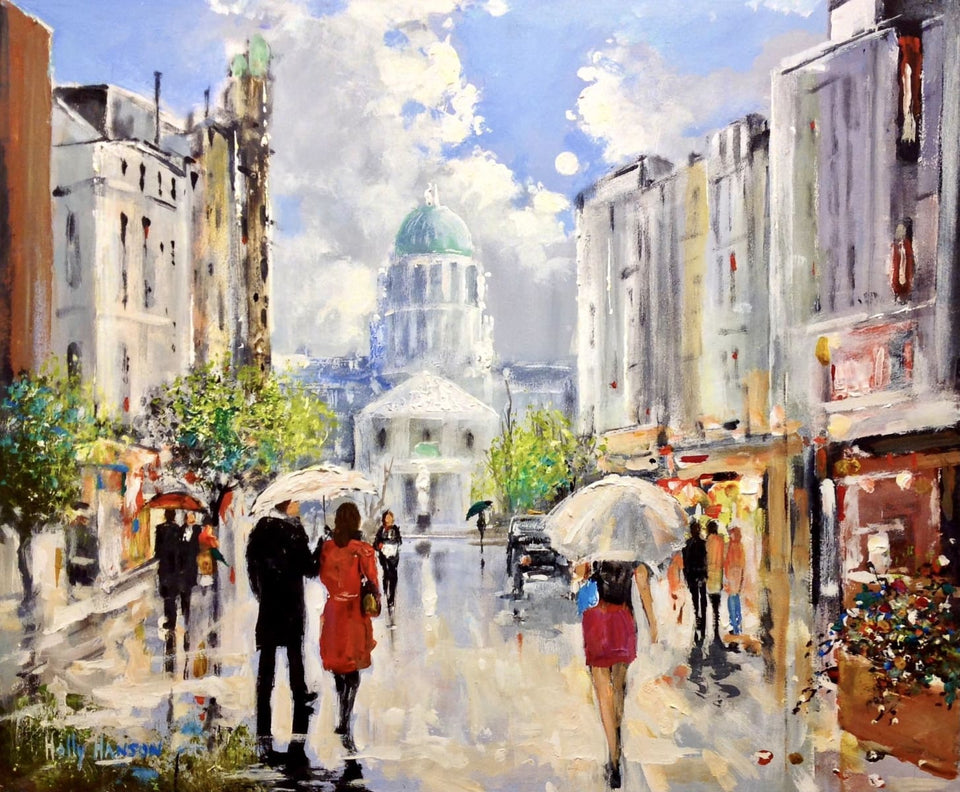 Afternoon Showers Belfast Original Artwork