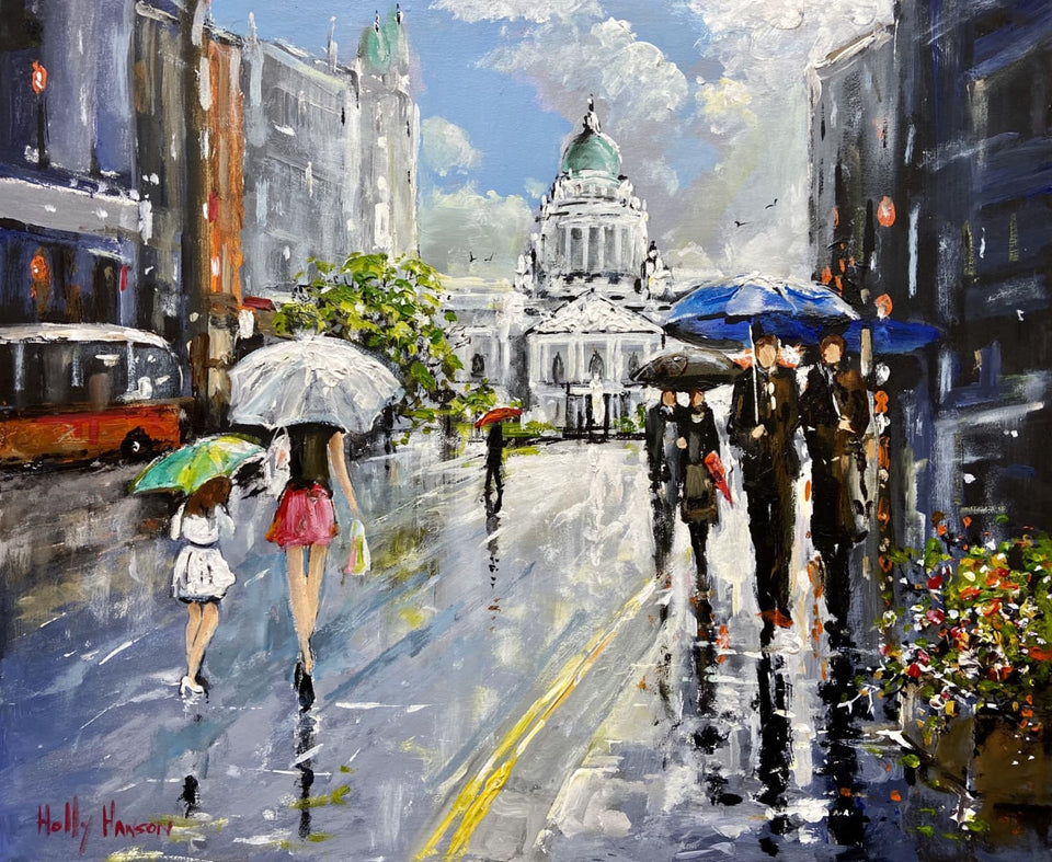 Afternoon Showers Donegall Place Belfast Original Artwork