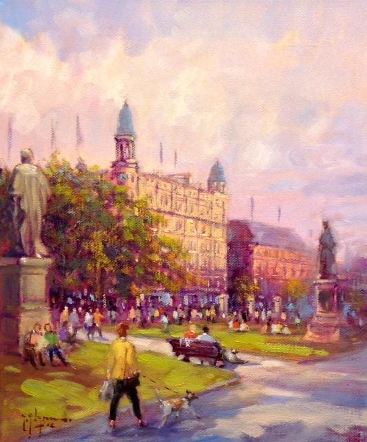 Afternoon Sunshine City Hall Belfast 12 X 10 / 30 25 Oil Original Artwork