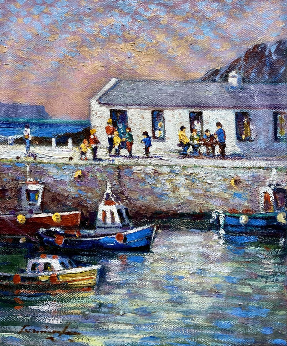 Afternoon Tea Roarks Kitchen Ballintoy Harbour Co.antrim Original Artwork