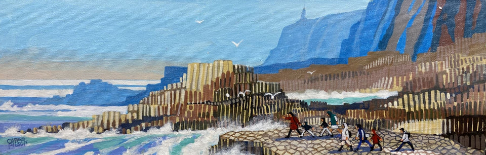 At The Giants Causeway Co.antrim Original Artwork