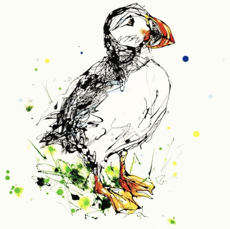 Atlantic Puffin - Square Edition Signed Print