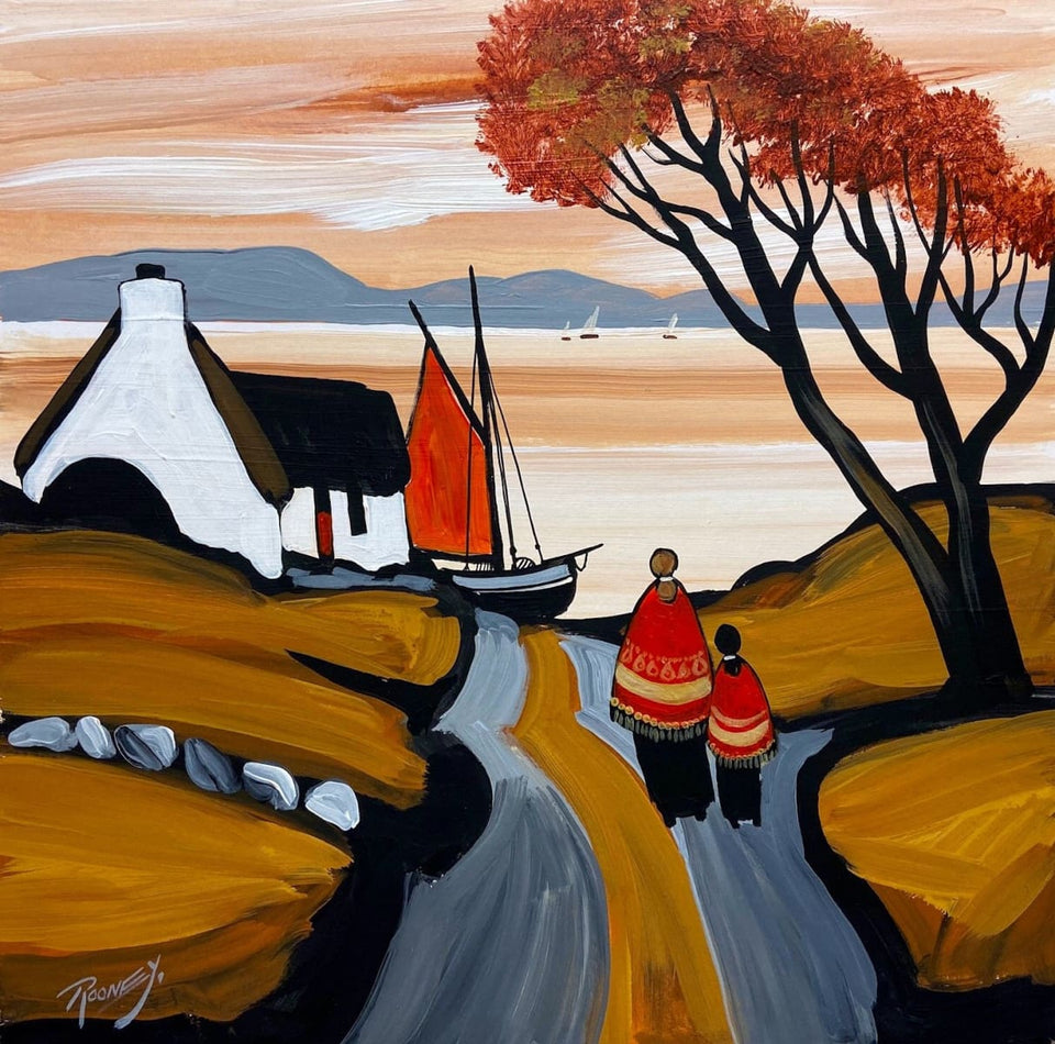 Autumn Evening Stroll Original Artwork
