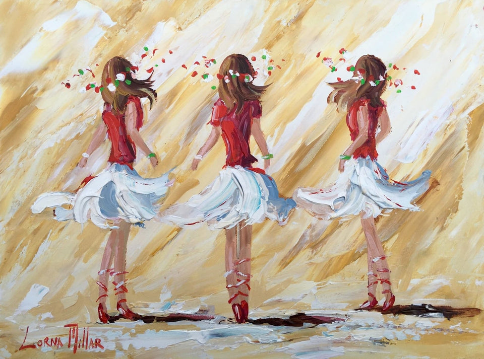 Ballet Dance Class Original Artwork