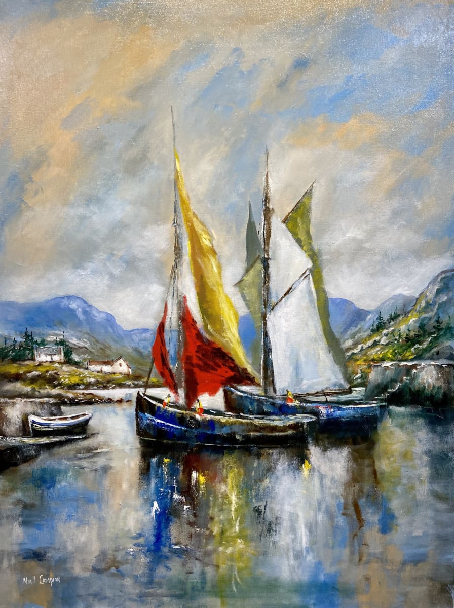 Ballinakill Harbour Connemara Co. Galway Original Artwork