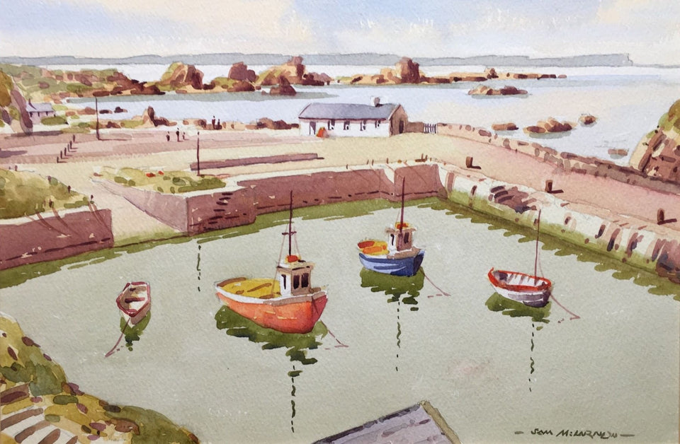 Ballintoy Harbour Co.antrim Northern Ireland Original Artwork
