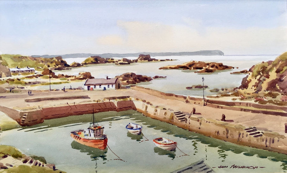 Ballintoy Harbour Co.antrim. Original Artwork