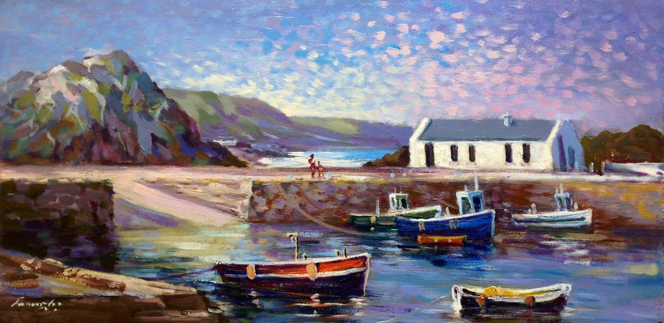 Ballintoy Harbour Co.antrim Original Artwork
