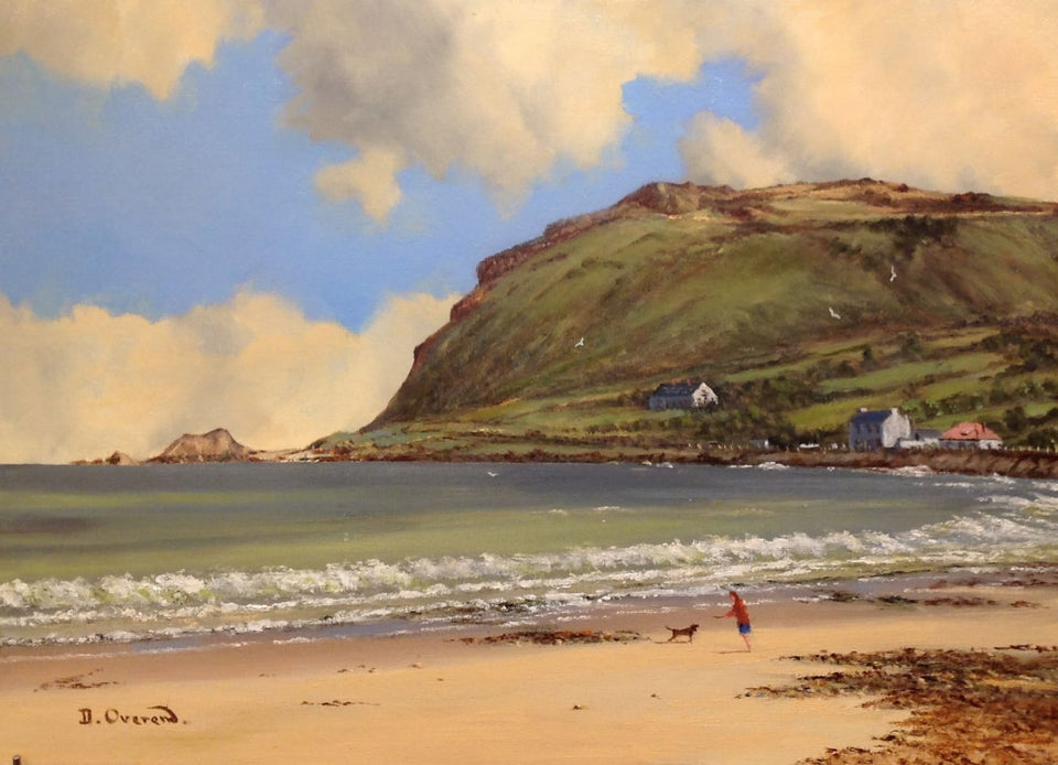 Ballygally Head Co.antrim Original Artwork