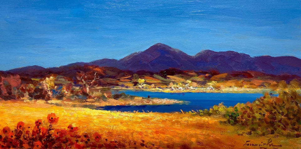 Ballyroney Lake The Mournes Co.down Original Artwork