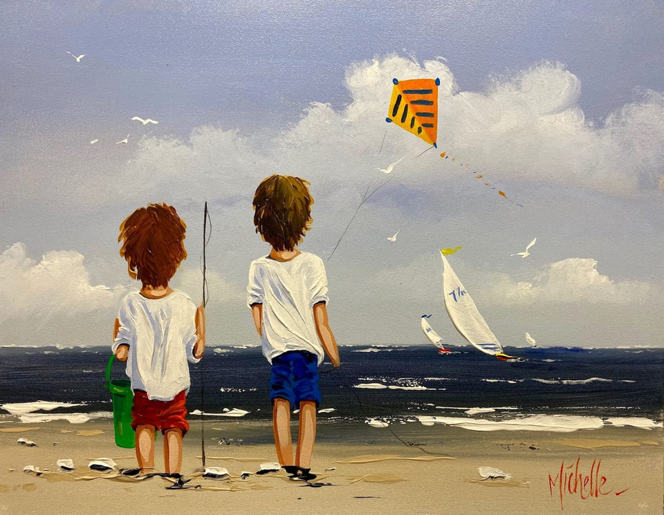 Beach Fun Original Artwork