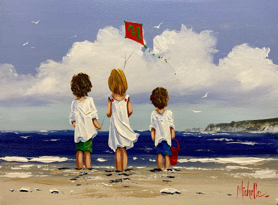 Beach Fun White Rocks Portrush Co.antrim Original Artwork