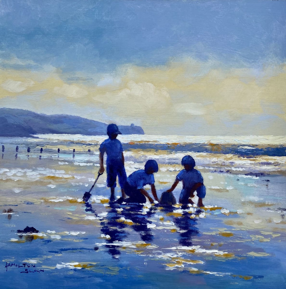 Beach Games Portstewart Strand Original Artwork