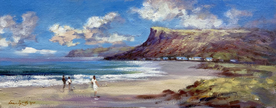 Beach Stroll Waterfoot Co.antrim Original Artwork