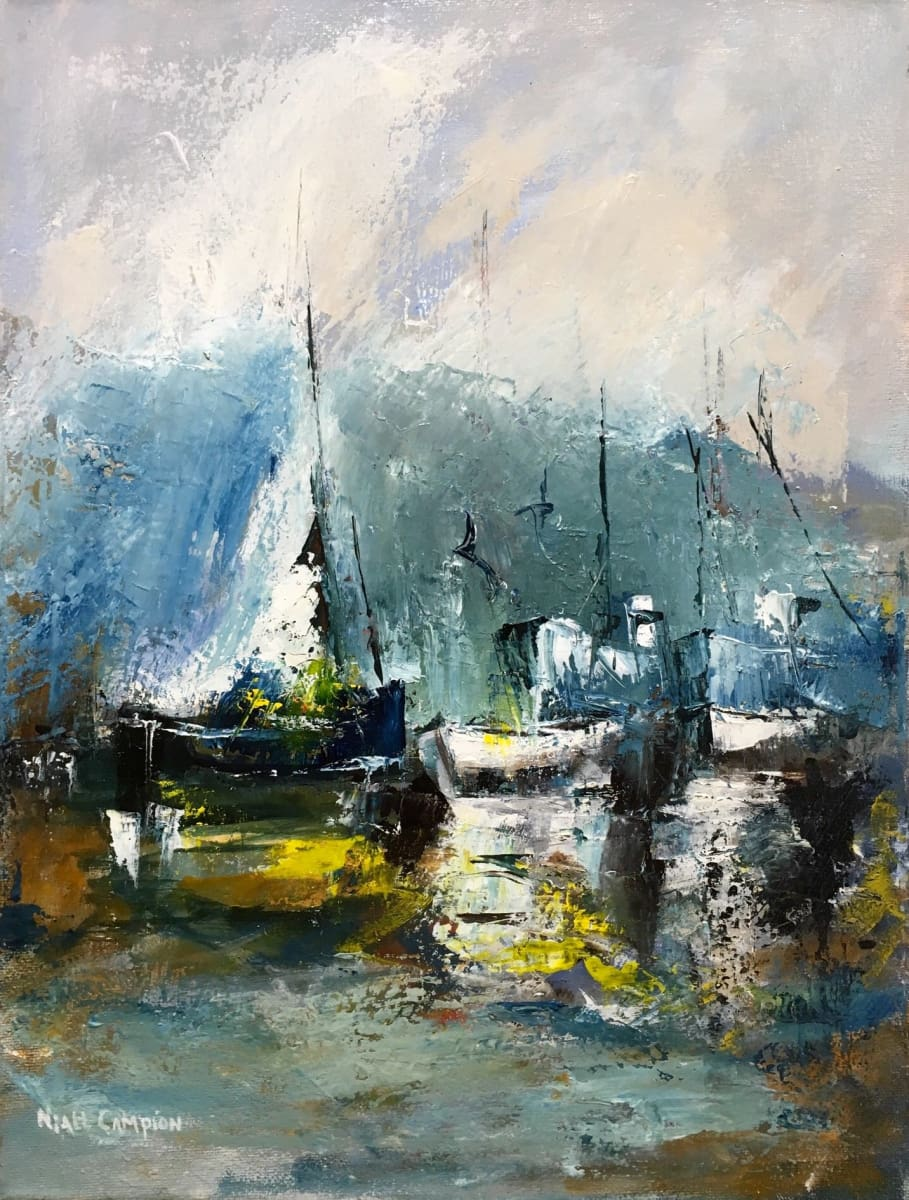 Boats At Kinsale Co. Cork Original Artwork