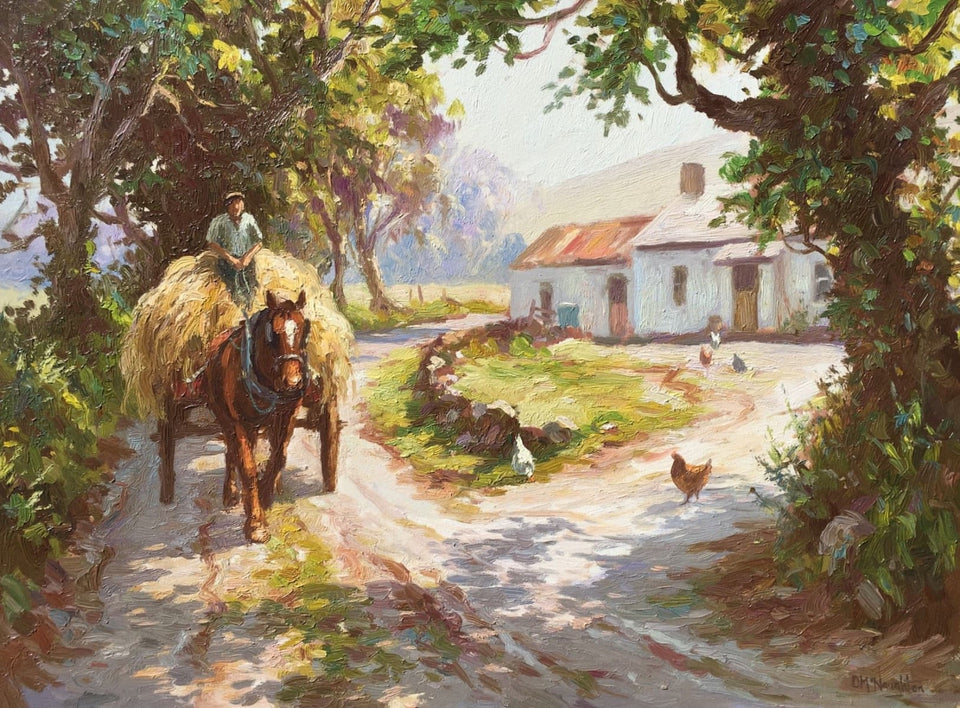 Bringing In The Hay by Donal McNaughton - Original Artwork