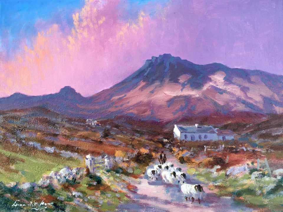 Bringing In The Sheep Mournes Co.down. Original Artwork