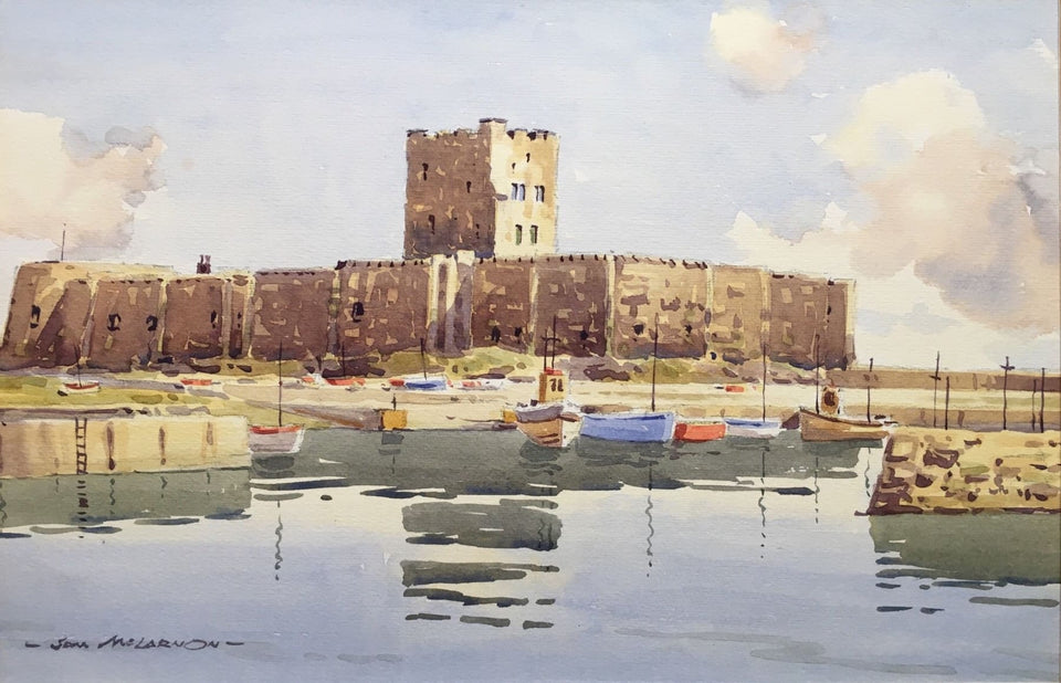 Carrickfergus Castle Co.antrim Northern Ireland Original Artwork