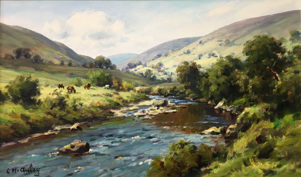 Cattle Grazing Glendun Co.antrim Original Artwork