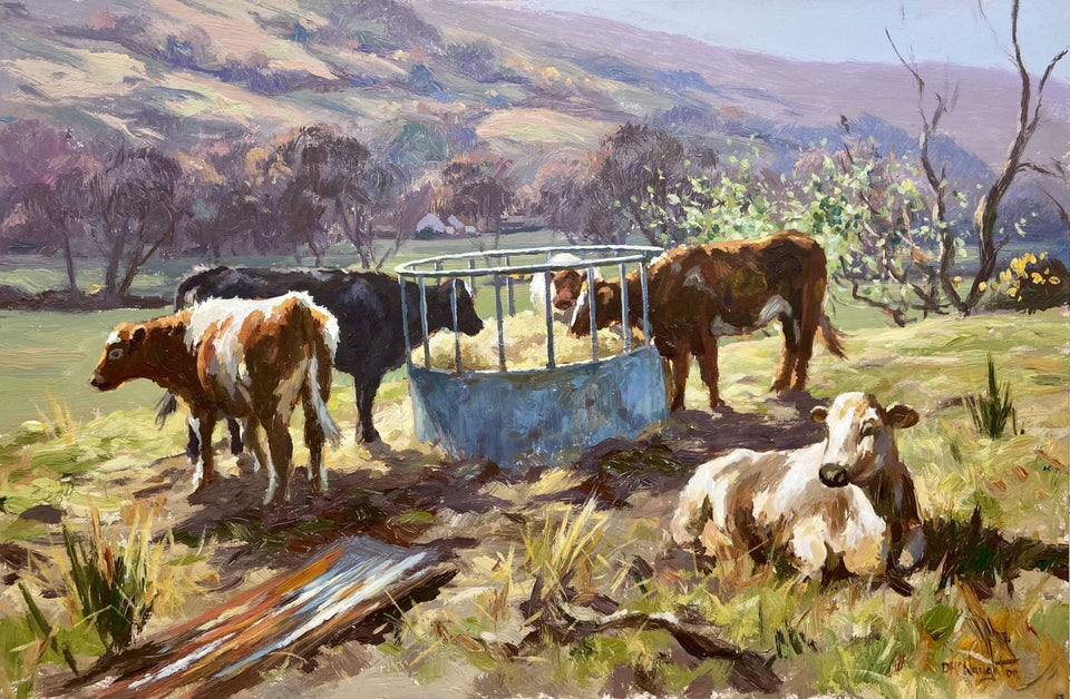 Cattle In The Antrim Glens Original Artwork