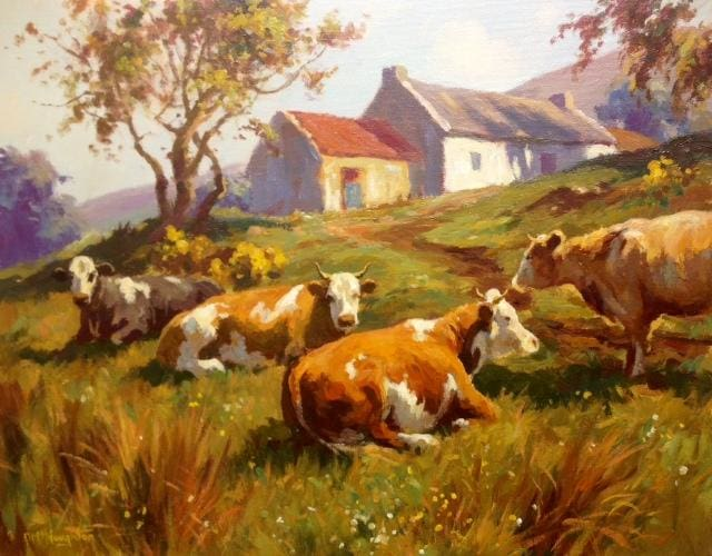 Cattle Resting by Donal McNaughton - Original Artwork
