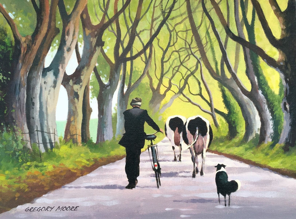 Changing Pastures By The Dark Hedges Original Artwork