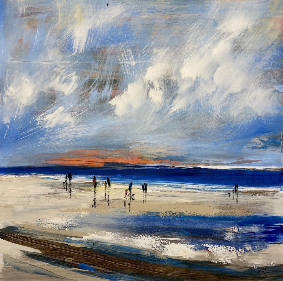 Changing Skies On A North Antrim Beach Original Artwork