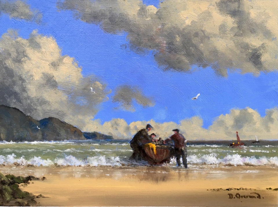 Chasing Herring Near Moville Co.donegal. Original Artwork