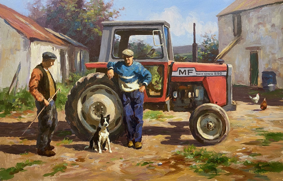 Chat By The Massey Ferguson 540 Original Artwork