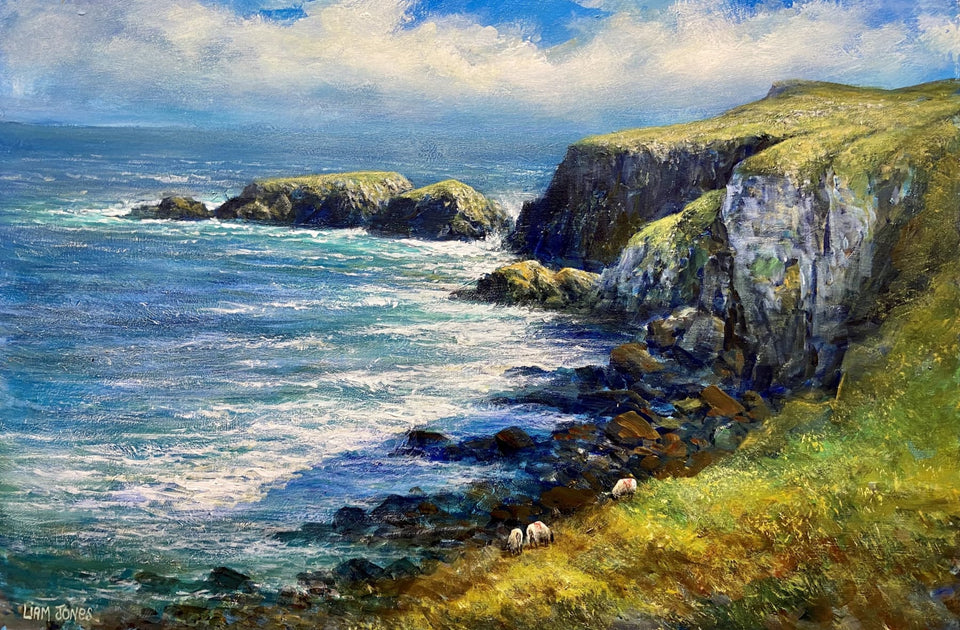 Coast At Carrick-A-Rede Co.antrim Original Artwork