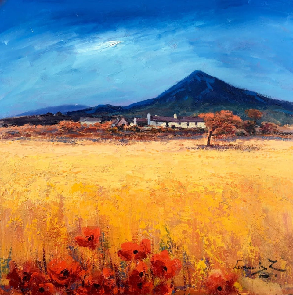 Cornfield Poppies Near Mount Errigal Co.donegal. Original Artwork