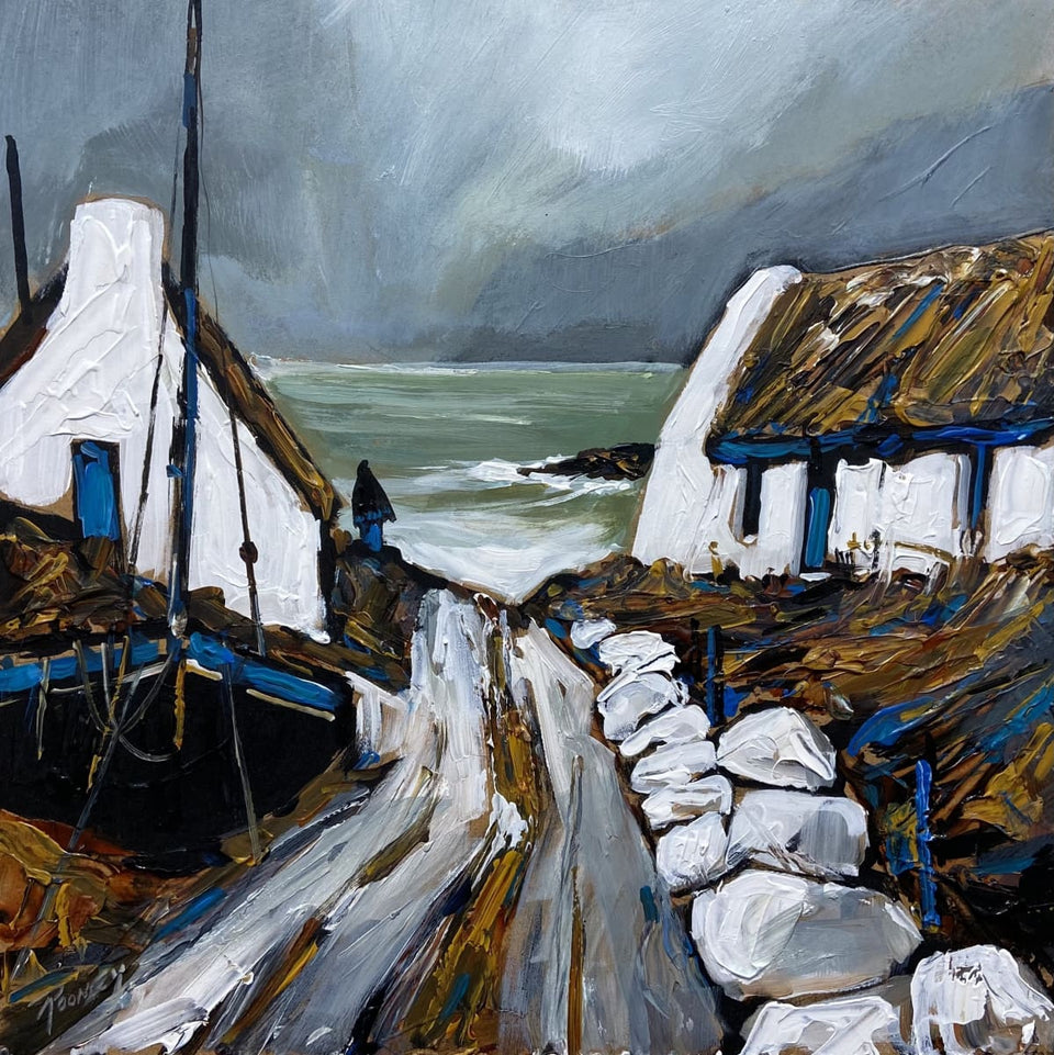 Cottages By The Atlantic Original Artwork