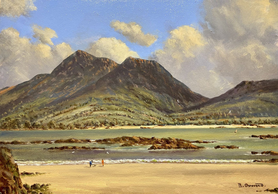 Croaghpatrick From Old Head Co.mayo Original Artwork