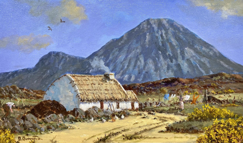 Crofters Under Errigal Co.donegal. Original Artwork