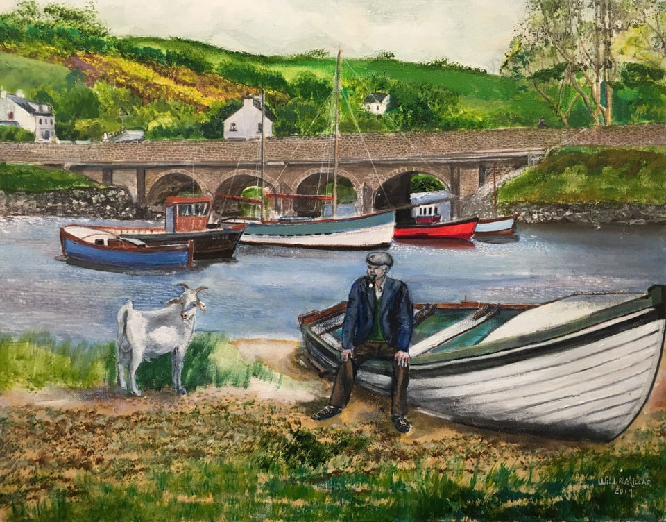 Cushendun Bridge Co.antrim Original Artwork