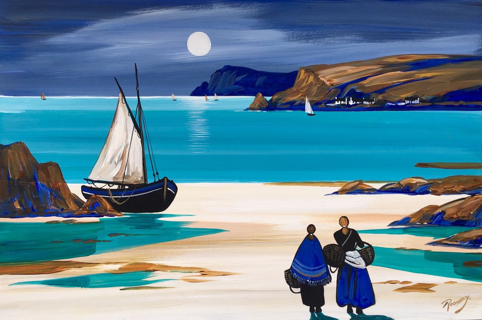 Cushendun Moonlight Co.antrim Original Artwork