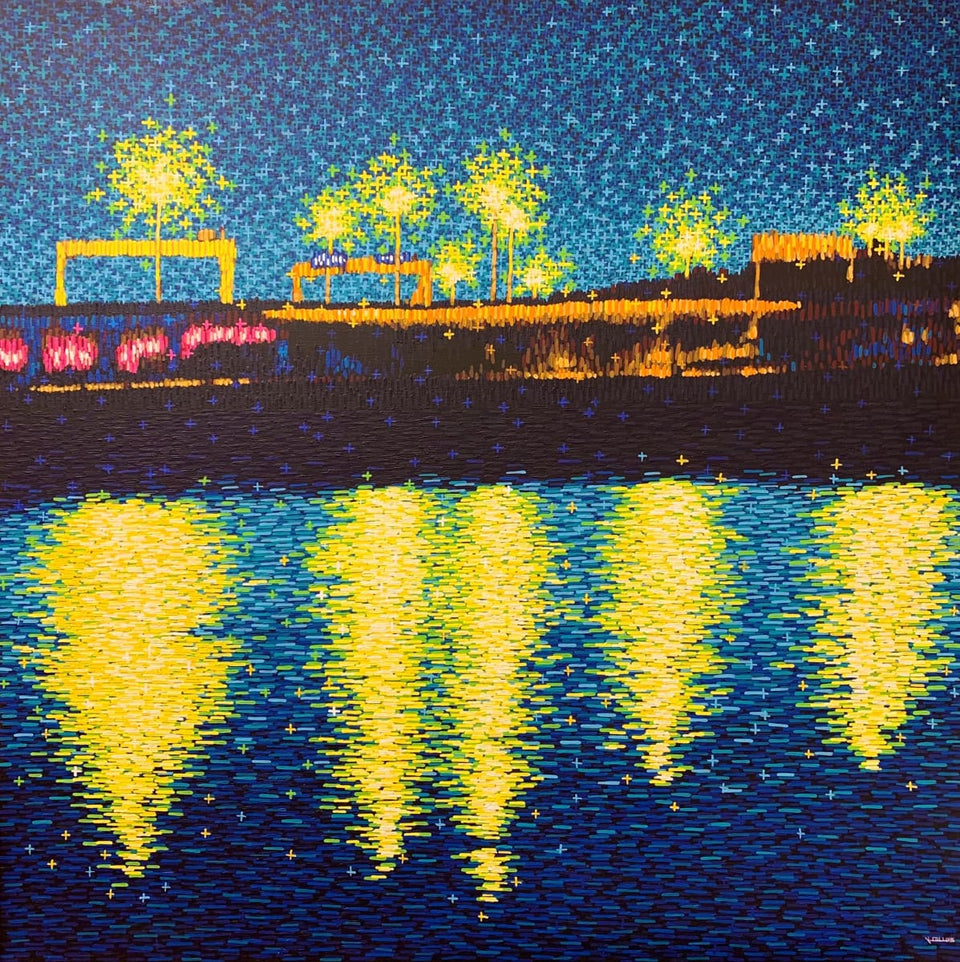 Drizzle Over The Lagan Belfast Original Artwork