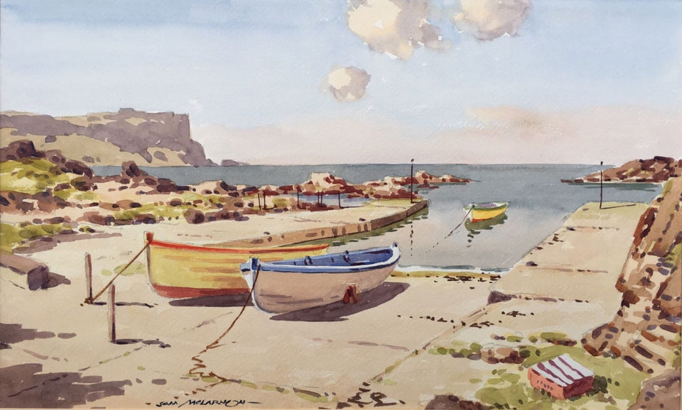 Dunseverick Harbour Co.antrim. Original Artwork